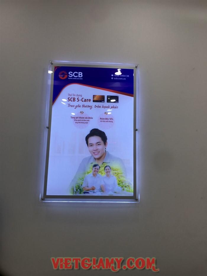 Thi công hộp đèn siêu mỏng SCB An Nhơn Bình Định